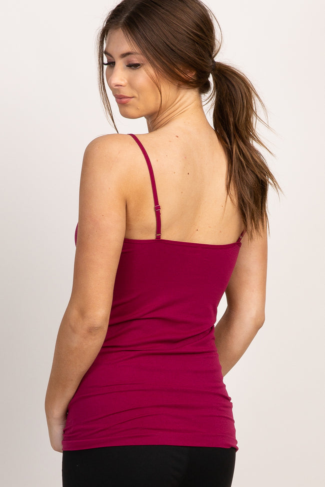 Burgundy Caged Front Cami