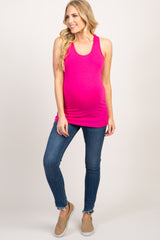 Fuchsia Fitted Tank Top