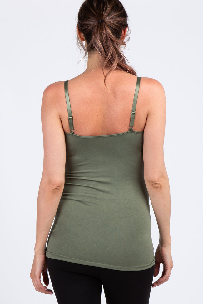 Light Olive Cross Front Maternity Cami