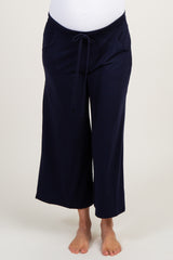 Navy Blue Crop Maternity Lounge Pants
