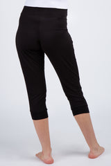 Black Pleated Maternity Lounge Pants
