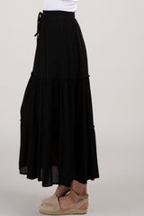 Black Tiered Maxi Skirt