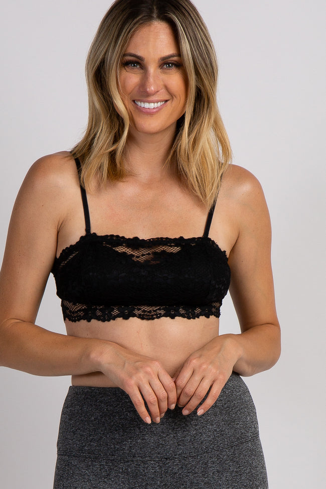 Black Lace Convertible Maternity Bralette