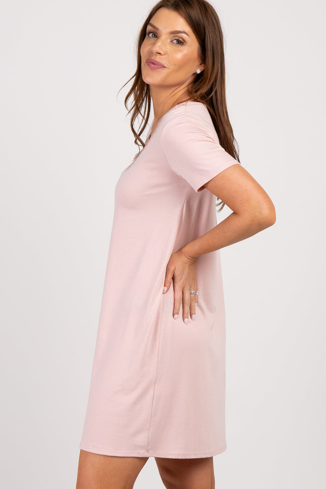 Light Pink Lace V-Neck Sleep Dress