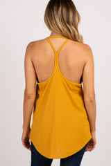 Mustard Sleeveless Racerback Top