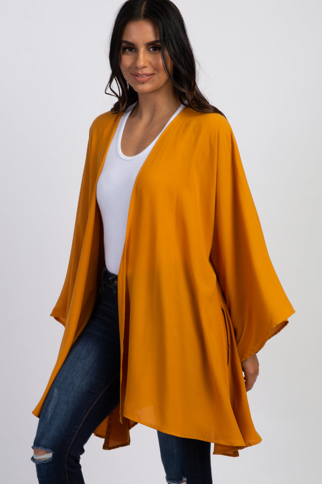 Mustard Long Sleeve Cover Up