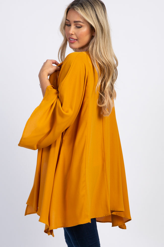 Mustard Long Sleeve Maternity Cover Up
