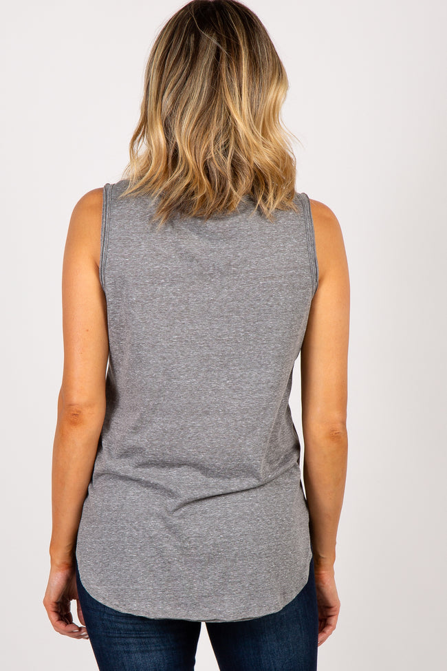 Charcoal Grey Heathered Tank Top