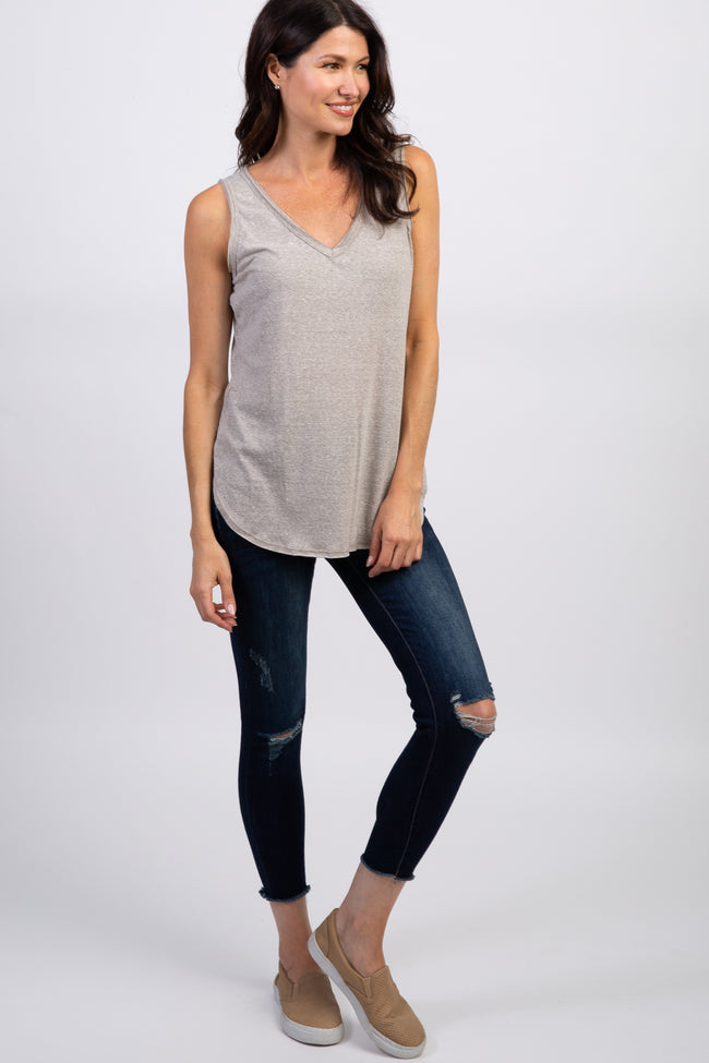 Heather Grey Heathered Tank Top