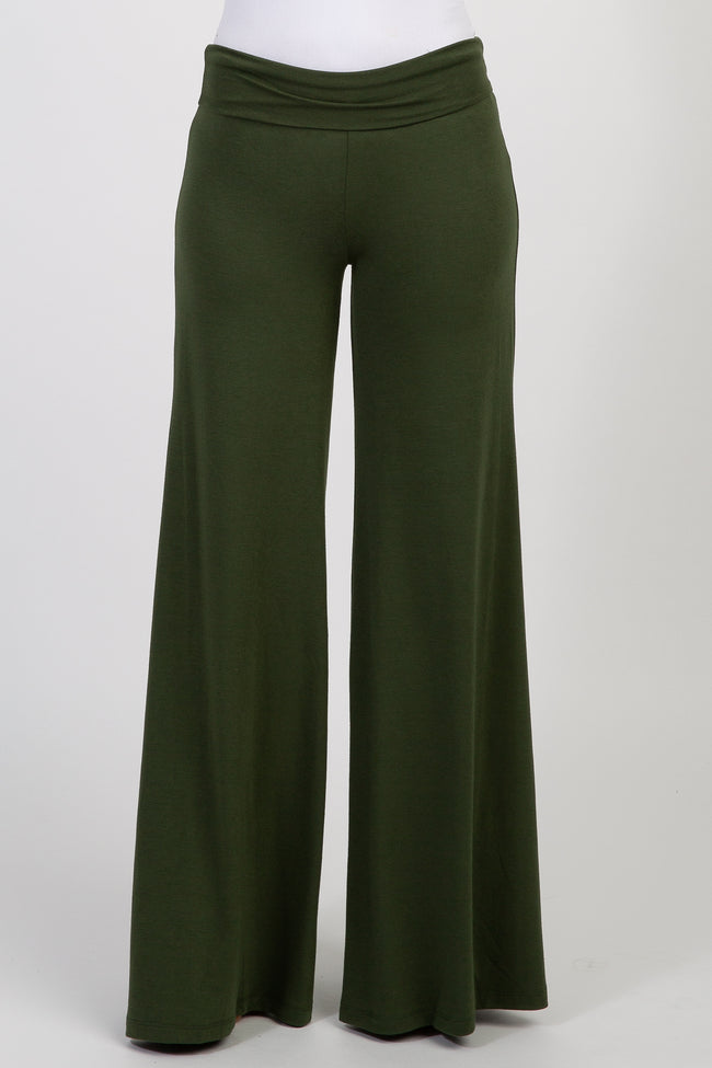 Green Wide Leg Lounge Pants