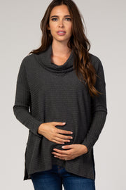 Olive Cowl Neck Long Sleeve Maternity Top