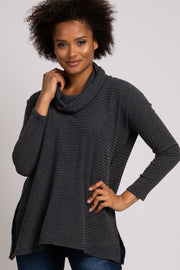 Olive Cowl Neck Long Sleeve Top