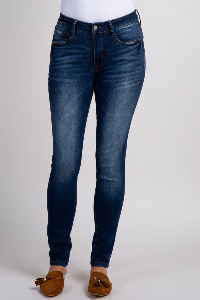 Navy Solid Basic Skinny Jean