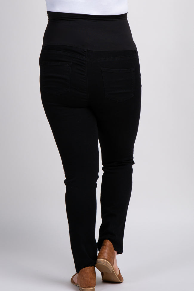 Black Maternity Plus Skinny Jeans