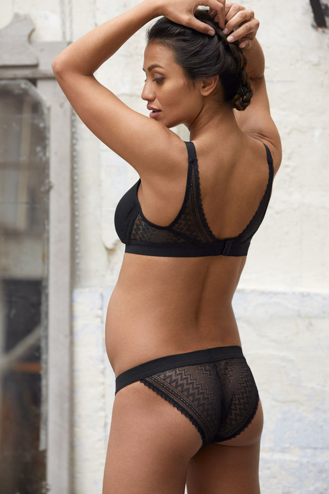 Black Cache Coeur Solid Lace Maternity/Nursing Bra