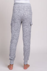 Heather Grey Pocketed Maternity Lounge Pants