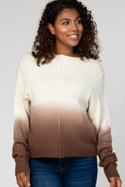 Ivory Tie Dye Long Sleeve Maternity Sweater