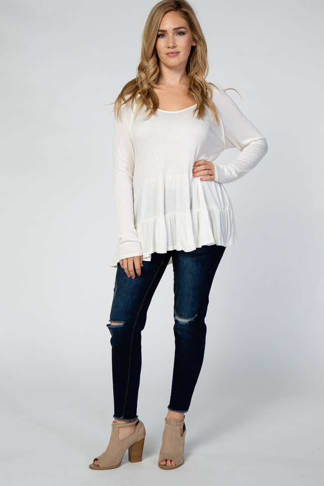 Ivory Tiered Maternity Tunic