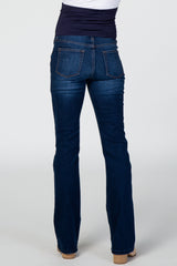 Navy Blue Bootcut Maternity Denim Jeans