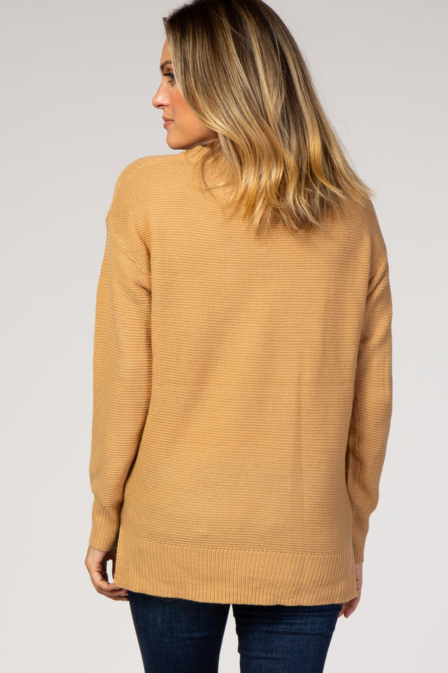 Camel Solid Sweater