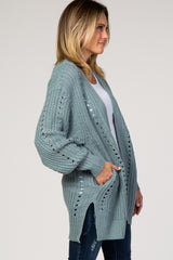 Blue Oversized Cardigan