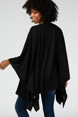 Black Ribbed Knit Maternity Cardigan