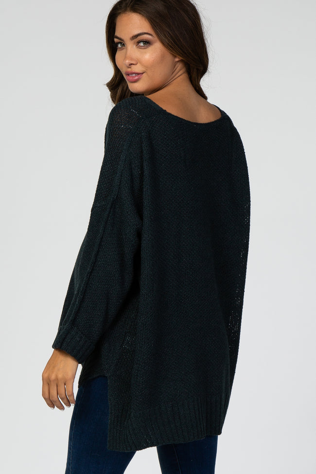 Emerald V-Neck Cuffed Long Sleeve Maternity Sweater