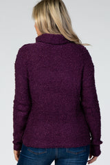Plum Cowl Neck Maternity Sweater