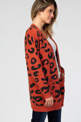 Rust Cheetah Print Cardigan