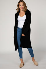 Black Ribbed Maternity Cardigan