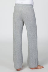 Heather Grey Knit Drawstring Waist Maternity Lounge Pants