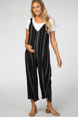 Black Wide Leg Maternity Jumpsuit
