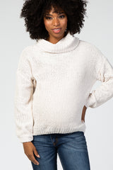 Ivory Cowl Neck Maternity Sweater