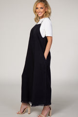 Navy Blue Wide Leg Jumpsuit