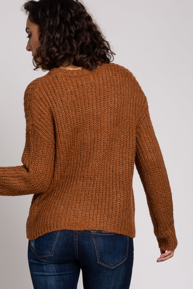 Rust Chunky Knit Sweater