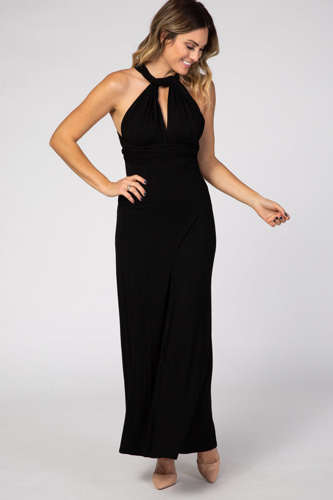Black Multi Way Maxi Maternity Dress