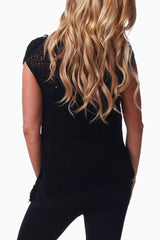 Black Embellished Maternity Knit