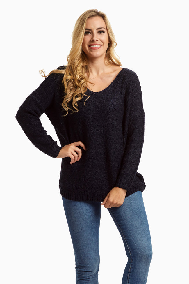 Navy Long Sleeve Sweater