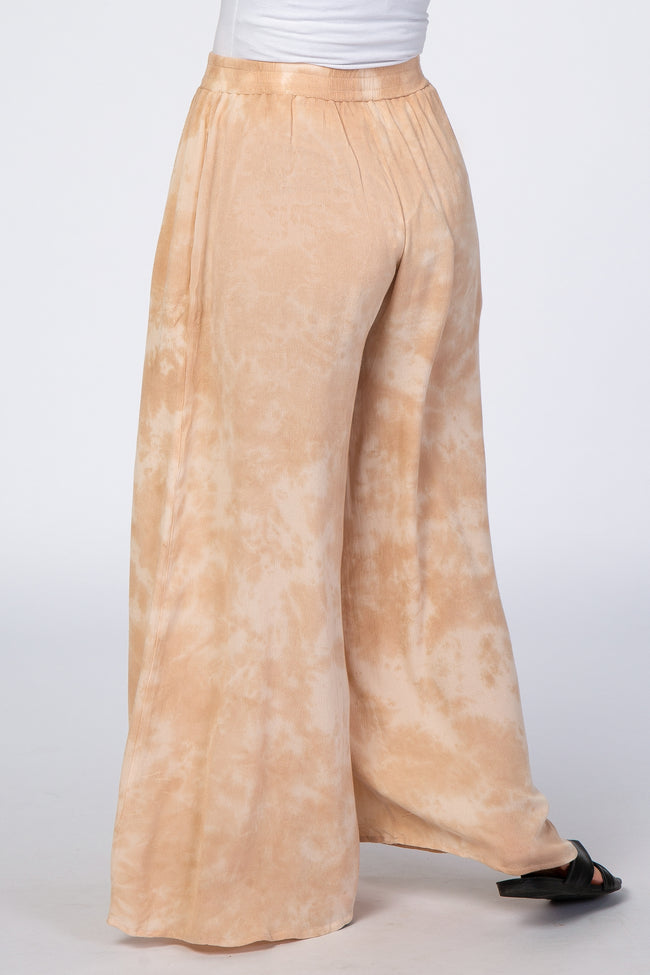 Waverleigh Peach Tie Dyed Wide Leg Maternity Pants