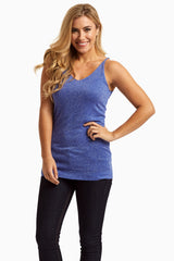 Blue Sparkle Maternity Tank