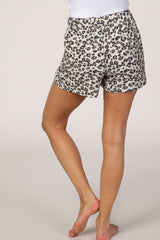 Taupe Cheetah Print Lounge Shorts