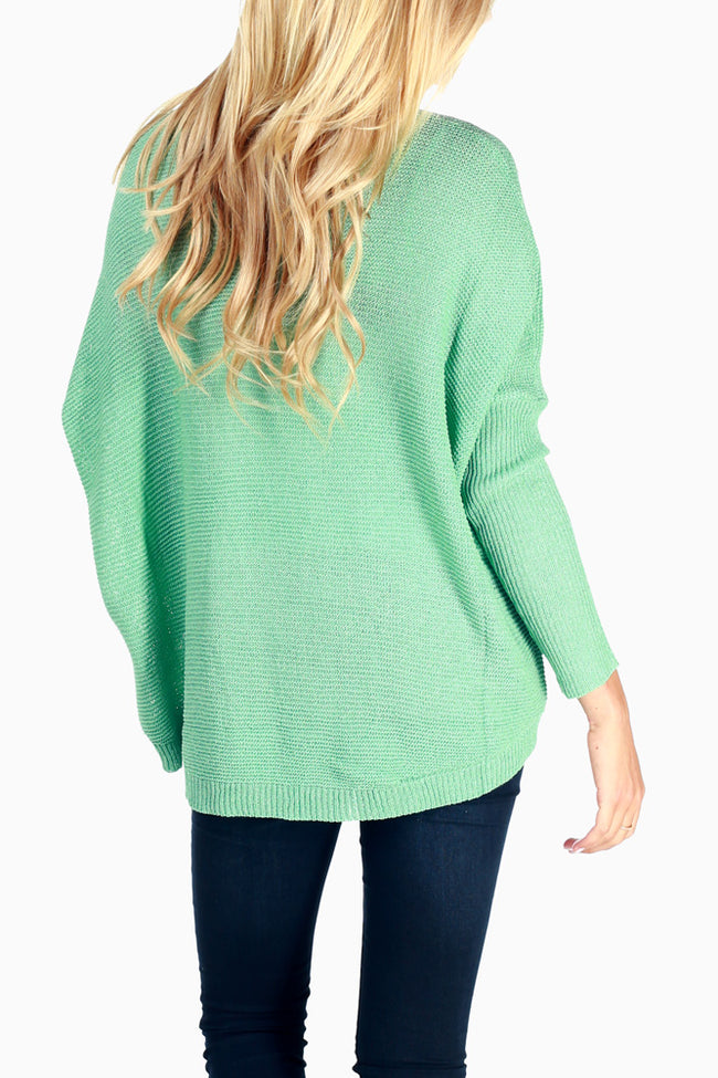 Mint Green Long Sleeve Matenity Sweater