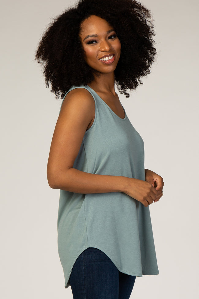 Emerald Green Sleeveless Top
