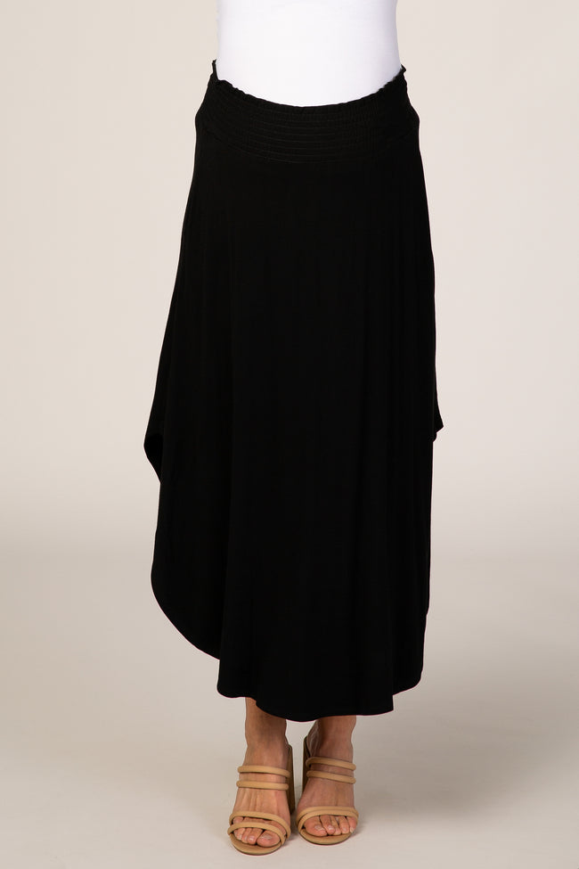 Black Flowy Maternity Skirt