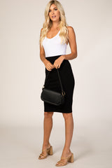 Waverleigh Black Fitted High Waist Skirt