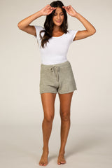 Olive Knit Sleep Shorts