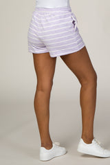 Lavender Striped Shorts