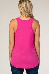Fuchsia Maternity Pocket Tank