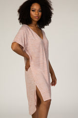 Heather Pink Shift Dress