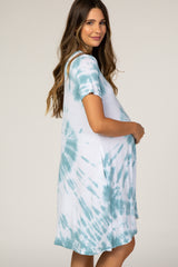 Waverleigh Mint Tie Dye Maternity Dress